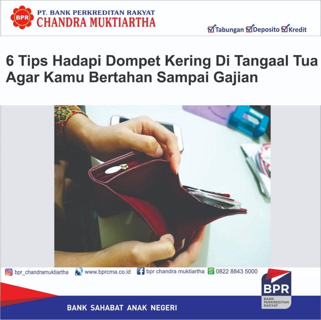 6 Tips Hadapi Dompet Kering di Tanggal Tua