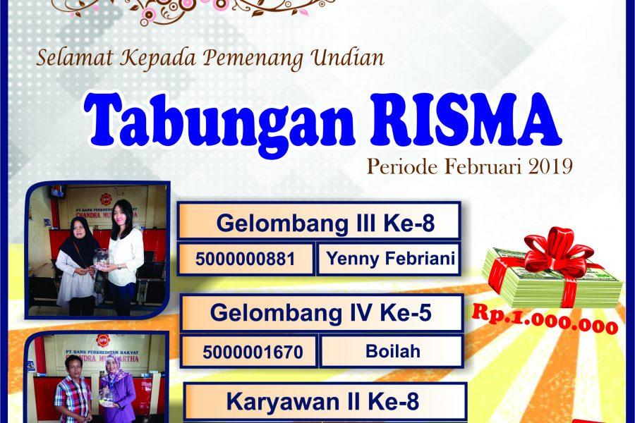 RISMA 100 periode Februari 2019