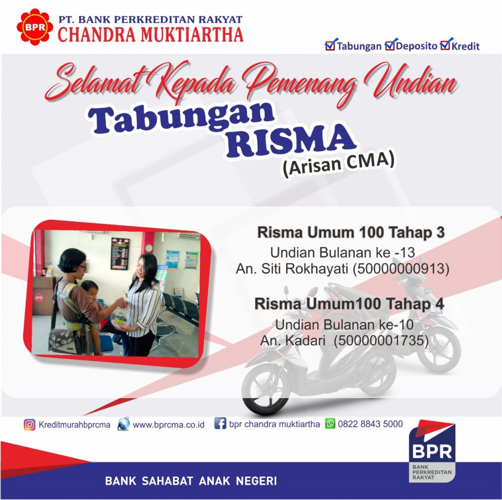 Info Pemenang Undian Tab Risma bulan Juli 2019