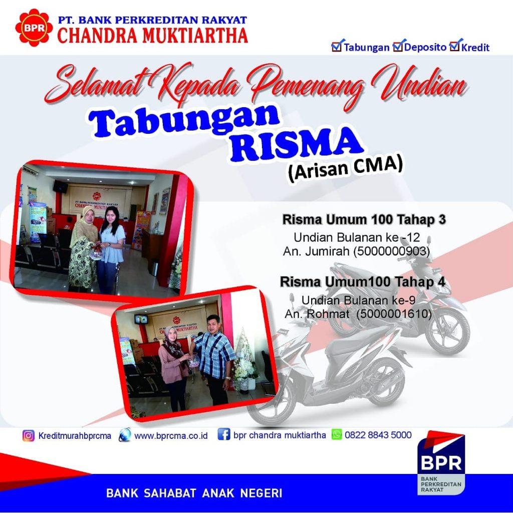 INFO PEMENANG UNDIAN TAB RISMA BULAN AGUSTUS 2019